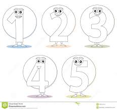numbers for coloring books part 1 stock images image 16547414