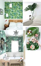home decor ideas use tropical leaves