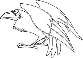 crow cartoon aurora maleficent coloring wecoloringpage
