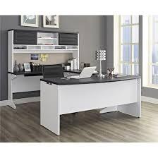 pursuit executive desk white gray ameriwood home target