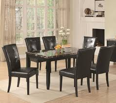 amazon com 7 piece parson dining set anisa collection coaster amazon com 7 piece parson dining set anisa collection coaster black leather dining room furniture sets coasters