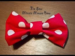 minnie mouse hair bow no sew minnie mouse bow