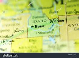 A Map Of Usa by Closeup Boise Idaho On Political Map Stock Photo 371750677