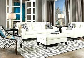 White Leather Living Room Furniture Awesome White Leather Living Room Set Chatelco With Regard To