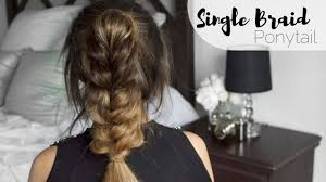 Single Braid Hair Extensions by How To Single Braid Ponytail With Anchanté Hair Extensions Youtube