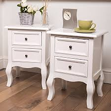 fully assembled end tables bedside tables nightstands set of 2 fully assembled stands size