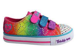rainbow light up shoes new skechers s lights shuffles rainbow madness girls kids light up