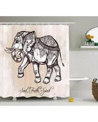 Elephant Home Decor Fall Is Here Get This Deal On Elephants Decor Shower Curtain Set
