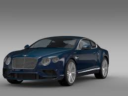 bentley coupe 2017 3d bentley continental gt v8 2017 cgtrader