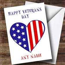 veterans day cards usa flag heart personalised veterans day card the card zoo