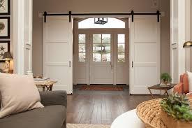 Barn Door Hardware Installation by Install Barn Door Track System How To Hang An Interior Barn Door