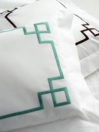 Monogrammed Coverlet Carlton Embroidered Bed Linens Custom Embroidered Luxry Bed Linens