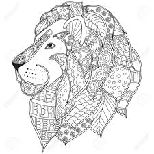 get this lion coloring pages for adults free printable 88428