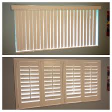 before with vertical blinds and after with plantation shutters yelp