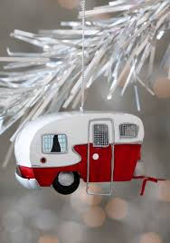 mobile home for the holidays ornament white mid
