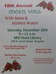 12 1 16 18th annual cookie walk with santa u0026 mystery box mill