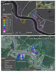 Map Of The French Quarter In New Orleans by New Study Maps Rate Of New Orleans Sinking Nasa