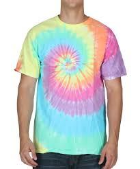 pastel spiral tie dye t shirt