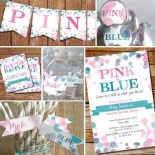 gender reveal party decorations pink or blue gender reveal party decorations set