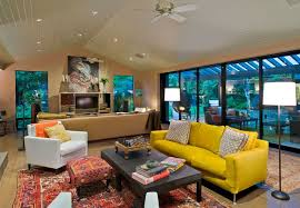yellow livingroom to design with and around a yellow living room sofa