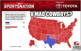 Funny Redskins Memes - you mad cowboys meme