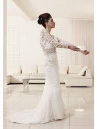 anny lin calpurnia long lace sleeve wedding dress ivory or pink