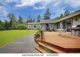 Deck With Patio by Backyard Deck Stock Images Royalty Free Images U0026 Vectors