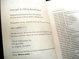 Henry Rollins Quotes Love by Dear Dear Brenda The Love Letters To Brenda Venus Henry Miller