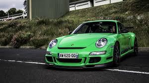 porsche gt3 colors 2006 porsche 911 gt3 rs 997 mk1 green color front view