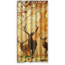 Whitetail Deer Shower Curtain Custom 36 X 72 Inches Deer In The Woods Shower Curtain Waterproof