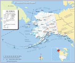 us state map with alaska us state alaska political map with capital juneau national borders