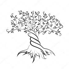 dead tree outline coloring page printable pages click the oak