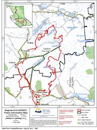 Wildfire Map Of Bc by Aug 25 No New Growth On Elephant Hill Fire Today 100 Mile