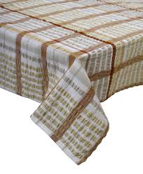 traditional bright seersucker table cloth 100 cotton checked