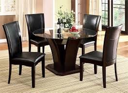 Black Glass Dining Table And 4 Chairs Manhattan Glass Dining Table Glass Dining Table