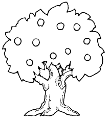 printable tree coloring pages for kids apple page
