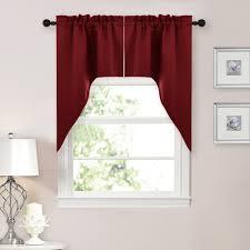 aliexpress com buy nicetown half window rod pocket kitchen tier