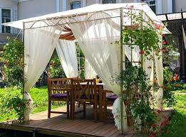 Outdoor Gazebo With Curtains Gazebo Curtains Home Depot Outdoor Drapes White Ideas Design