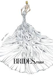 kim kardashian wedding dress sketches brides