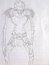 riuk death note sketch by agarest of war on deviantart