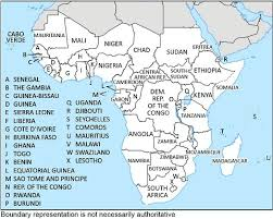 africa continent map affairs countries and other areas