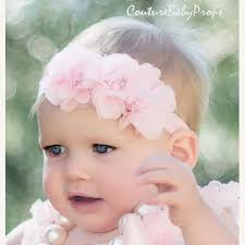 baby girl hair bands light pink baby headband newborn headband flower baby