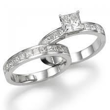 engagement rings and wedding band sets diamond bridal set fairy tale premier 2 carat 2 00ct princess