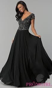 sleeve black dress sleeved gowns prom dresses promgirl