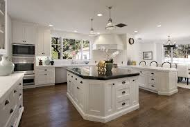 kitchen style white tile in cabinet hardwood floors white classic