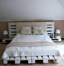 diy recycled wood pallet bed frame designs recycled pallet ideas