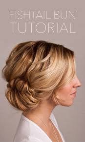 bridal hair bun fishtail bun wedding hair tutorial once wed