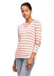 navy classic striped v neck sweater for sweaters