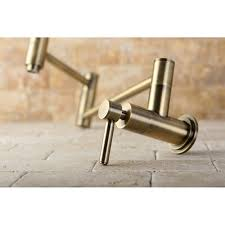 brass kitchen faucet kingston brass ks8103dl concord pot filler vintage brass pot
