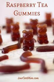 make your own gummy bears sugar free gummy bears raspberry tea low carb yum